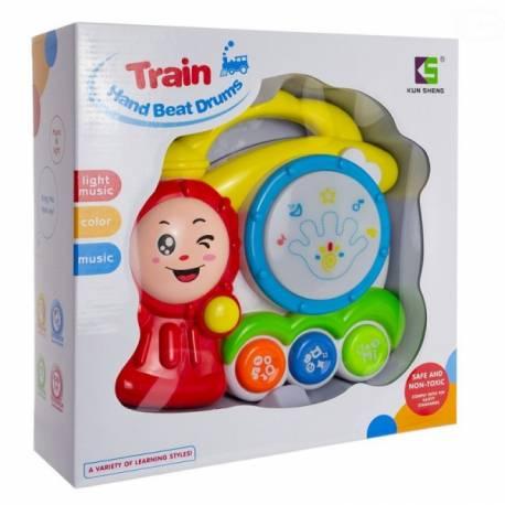 Interaktívna hračka s melódiou bubienok - Vláček