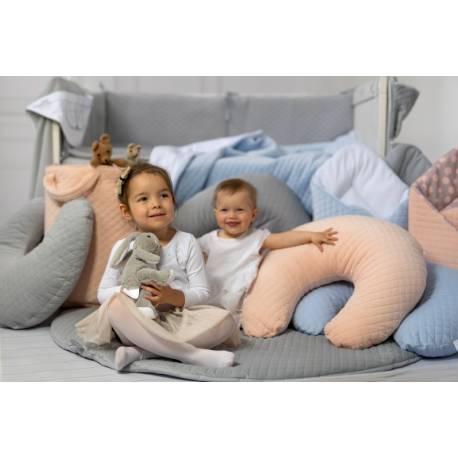 Dojčiace vankúš - relaxačná poduška 175 cm, Velvet lux Miminu, prešívaný - marhuľový