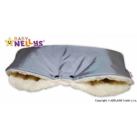 Rukávnik ku kočíka Baby Nellys ® VLNA - sivý