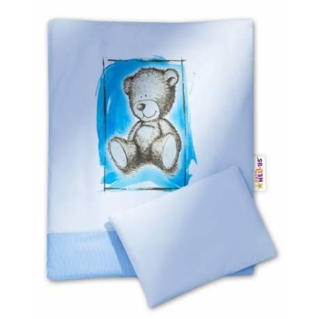 2-dielne obliečky do kočíka komplet Sweet Dreams by Teddy - modre