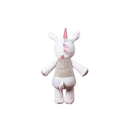 Plyšová hračka s hrkálkou Jednorožec, 60 cm - biely