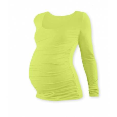 Tehotenské tričko Johanka s dlhým rukávom - sv. zelená, vel´. L/XL