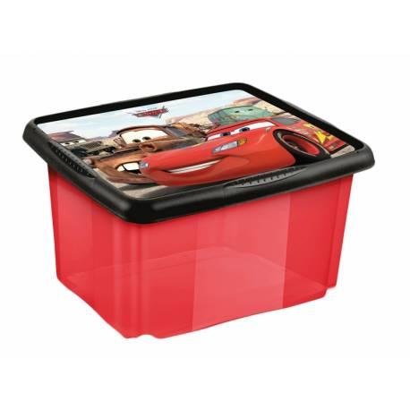 Box na hračky Cars 24 l - červený