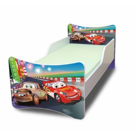 Detská posteľ so zábranou Autá 2. - 180x80 cm