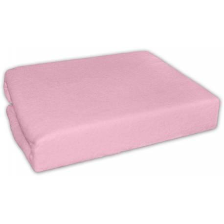 Froté plachta do postielky 120x60cm - Ružové
