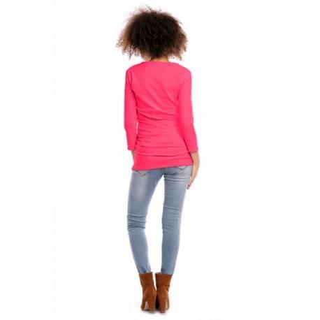 Tehotenská/dojčiaca tunika 3/4 rukáv - růžová, veľ. L/XL