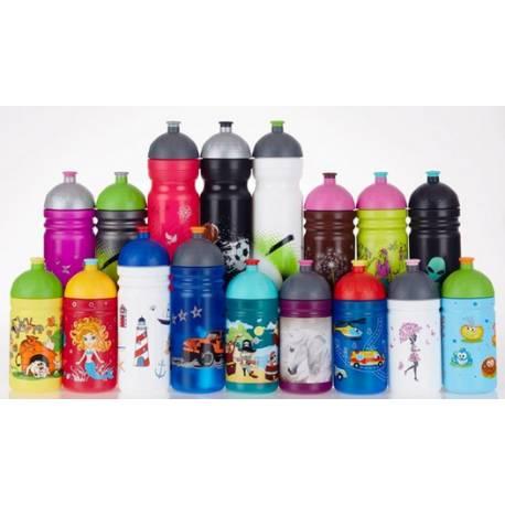 Zdravá fľaša - 0.5l - Dinosaury, zelená