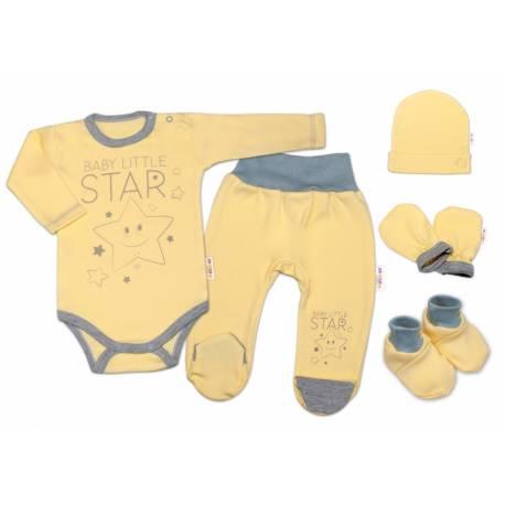 Súpravička do pôrodnice Baby Little Star - žltá