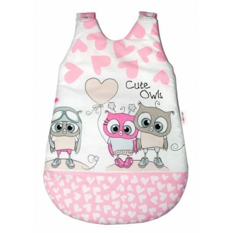 Spacie vak Cute Owls - ružový