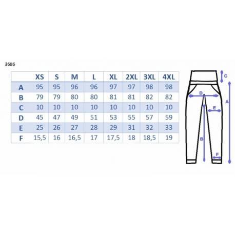 Tehotenské nohavice s mini tehotenským pásom - bielé