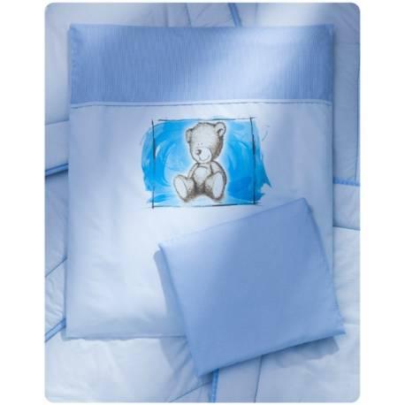Drevená kolíska s plnou výbavou Sweet Dreams by Teddy - modrá