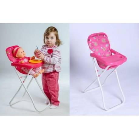 Stolička pre bábiky vysoká kov / plast 33x26x60cm v sáčku