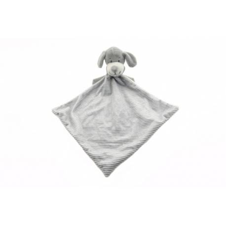 Psík šedý usínáček plyš 25cm v sáčku