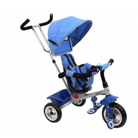 Detská trojkolka Rapid - modrá/strieborný rám
