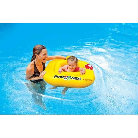 Nafukovacie plavátko žlté, štvorec, 79 cm
