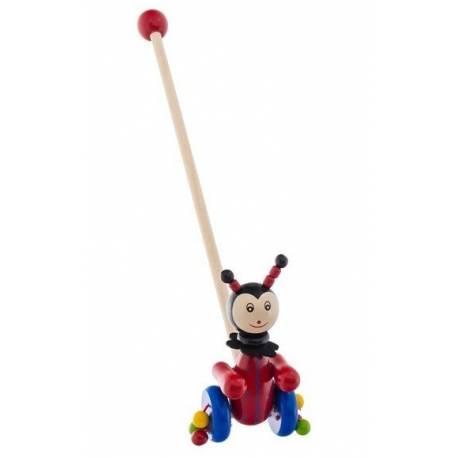Drevená jazdiaca hračka Euro Baby - chrobačík