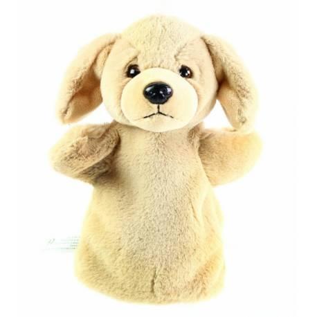 Plyšový maňásek pes 26 cm béžový