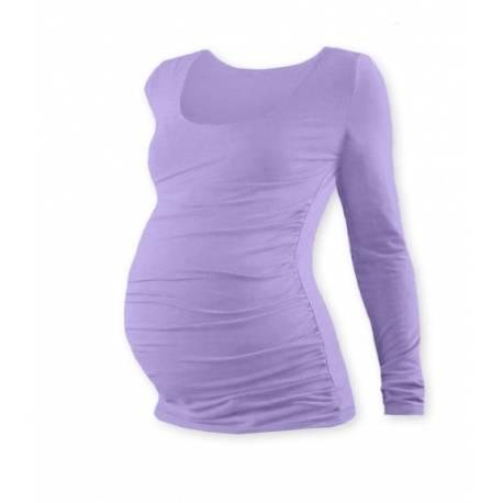 Tehotenské tričko Johanka s dlhým rukávom - levanduľa, L/XL