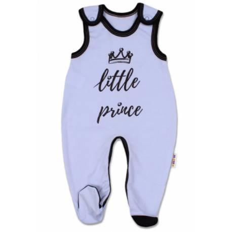 Dojčenské bavlnené dupačky, Little Prince - modré, veľ. 74