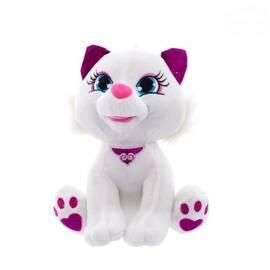 Plyšová mačička 24cm - biela