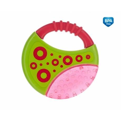 Hryzátko vodné s hrkálkou - Koliesko - ružové