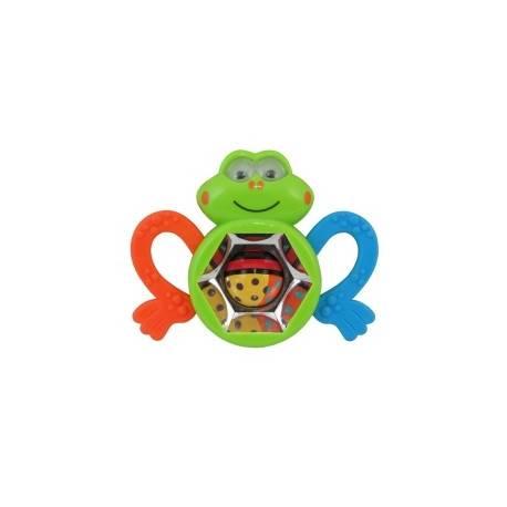 Edukačné hrkálka a hryzátko BABY MIX - Kaleidoskop žabka