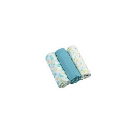 Mušelínové mäkké plienky 3ks - modré