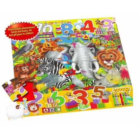 Puzzle 48 podlahové - zvieratá