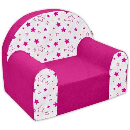Detské kresielko / pohovečka Nellys ® - Magic star - růžové