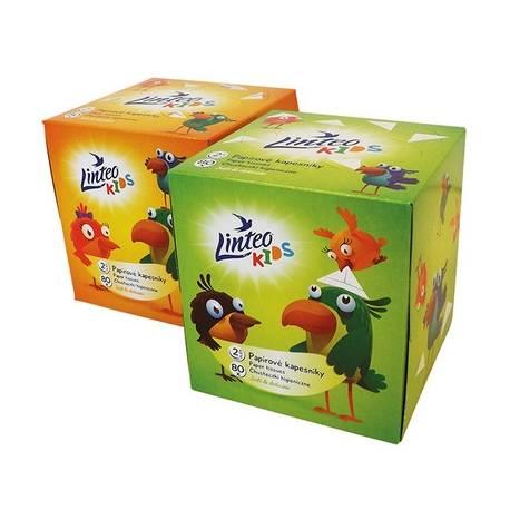 Papierové vreckovky Linteo Kids BOX 80ks