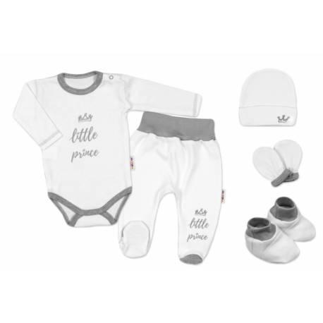 Súpravička do pôrodnice Princ - biely