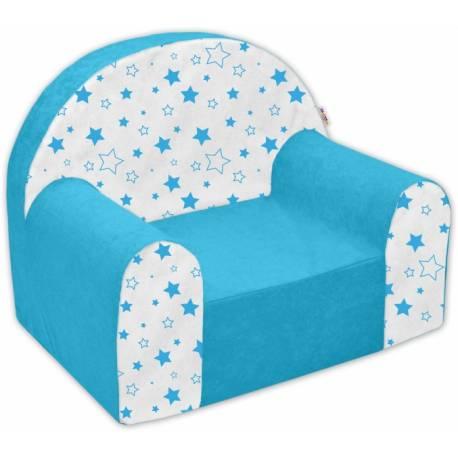 Detské kresielko / pohovečka Nellys ® - Magic star - modré