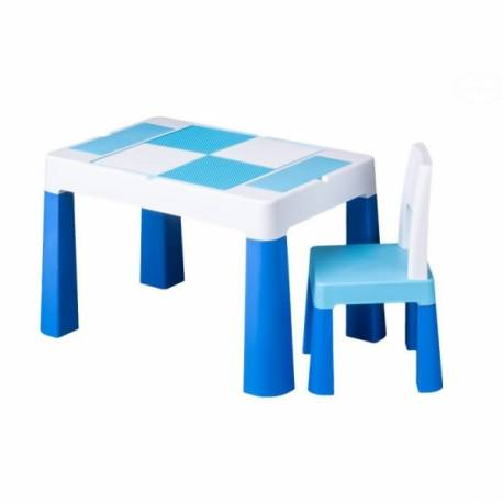 Sada nábytku pre deti Multifun - stolček a stolička - modrá