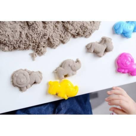 Kinetický piesok - prírodný - 2kg + formičky zadarmo