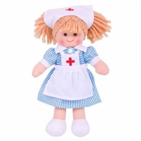 Látková bábika Zdravotná sestrička, 27cm