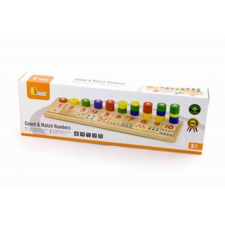 Drevená vzdelávacia hračka - počítanie