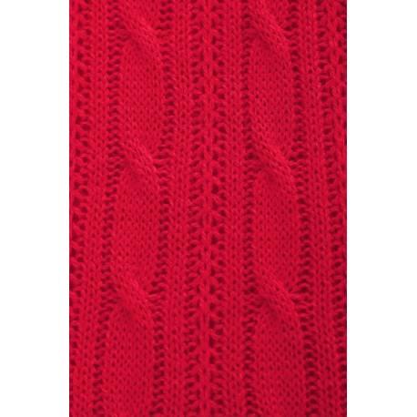 Tehotenský, dojčiací svetrik MAMI - červený