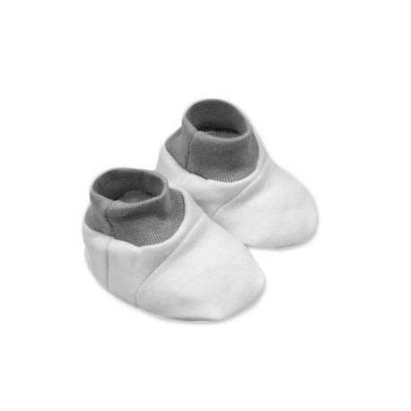 Topánočky /ponožtičky, Little prince/princess Bavlna - bielo/sivé