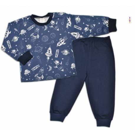 Bavlnené pyžamko Kosmos - granátové, veľ. 104