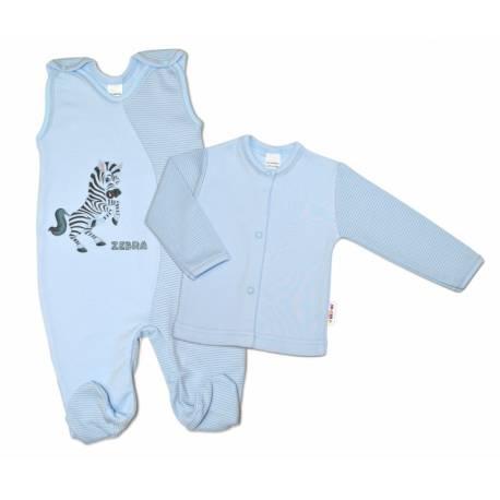 2-dielna dojčenská sada Zebra, veľ. 62 - modrá