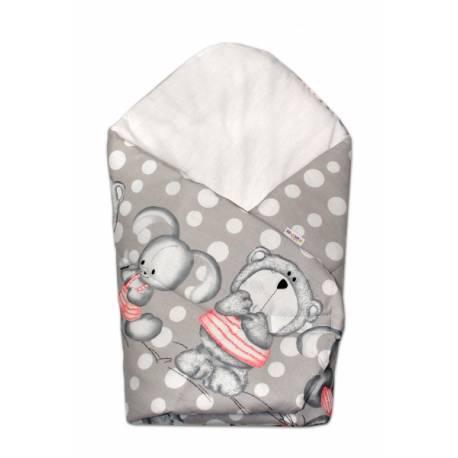 Novorodenecká zavinovačka Mevídek s zajačikom Bubble Baby Nellys - sivá