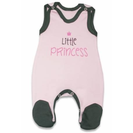 Dojčenské bavlnené dupačky, Malá princezná - růžové, veľ. 74
