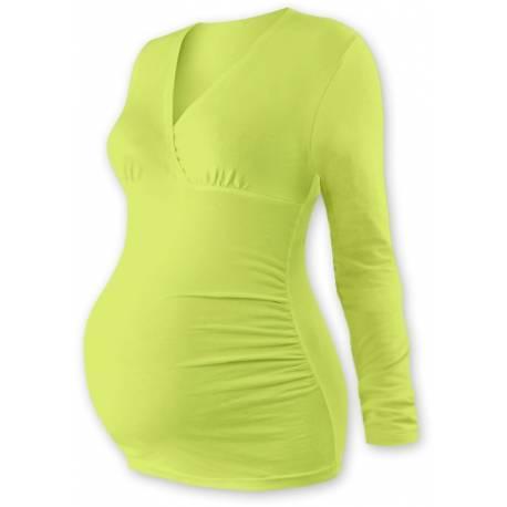 Tehotenské tričko / tunika dlhý rukáv EVA - sv. zelené