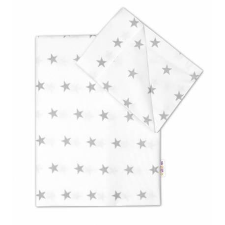 Bavlnené obliečky 120x90 - Hviezdičky v bielej