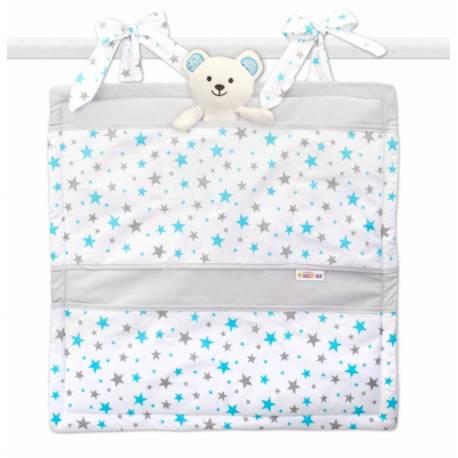 Vreckár Baby Nellys ® Hviezdičky mini - tyrkysové