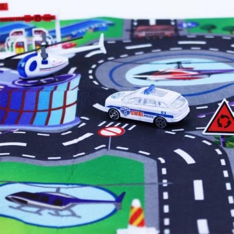 5340f7676 Koberec polícia s kovovými autami