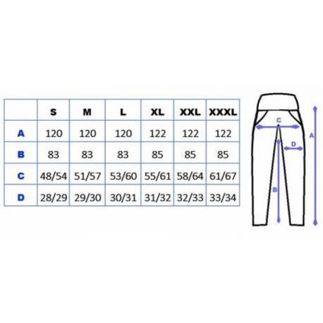 Tehotenské nohavice s bočnou vreckom - biela