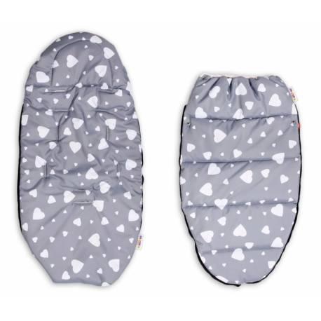 Fusak maxi s Minky 105x50cm - Hviezdy a hviezdičky v biele, sivá