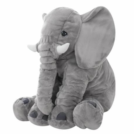 Plyšový sloník - dekoračný vankúšik 60 cm - sivý
