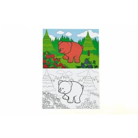 Omalovánky Moje první zvířátka lesní 21x14,5cm MPLZ